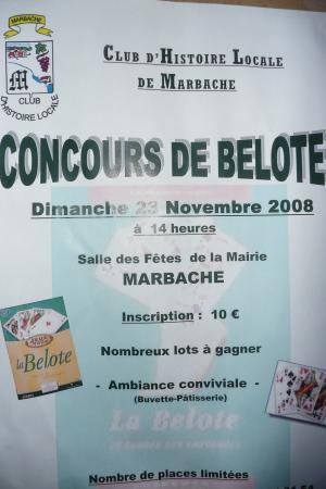 CONCOURS DE BELOTE 23.11.08